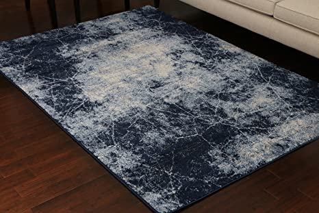 Miami Textured 3 D Carved Double Point High Density Thick Collection Oriental Carpet Area Rug Rugs Silver Grey Blue 5069 Anthracite 9x12 9 1x12 5 Home Kitchen