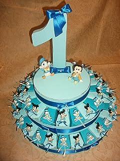 Super Bomboniera Disney TOPOLINO PAPERINO su torta per Battesimo  AI79