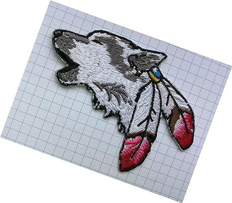 Parche bordado para ropa con diseño de lobo. Pasa ...