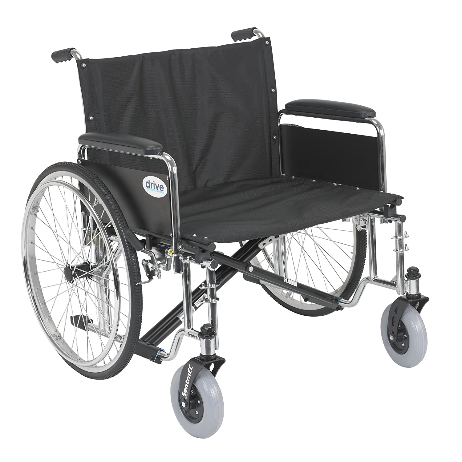 One arm drive wheelchair - Amazon Com Drive Medical Sentra Ec Heavy Duty Extra Wide Wheelchair With Various Arm Styles Arms Black 26 Health Personal Care