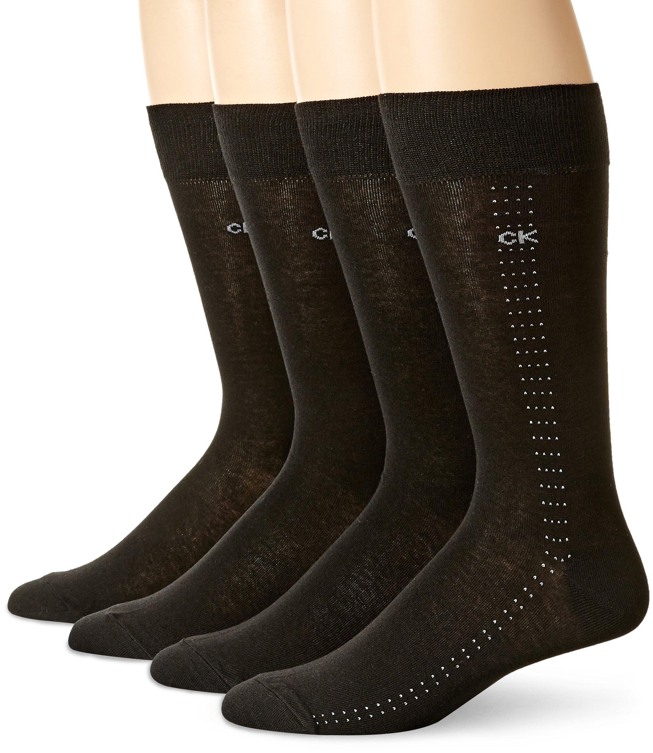 Calvin Klein Men's Classic Pattern Dress Socks 4-Pack