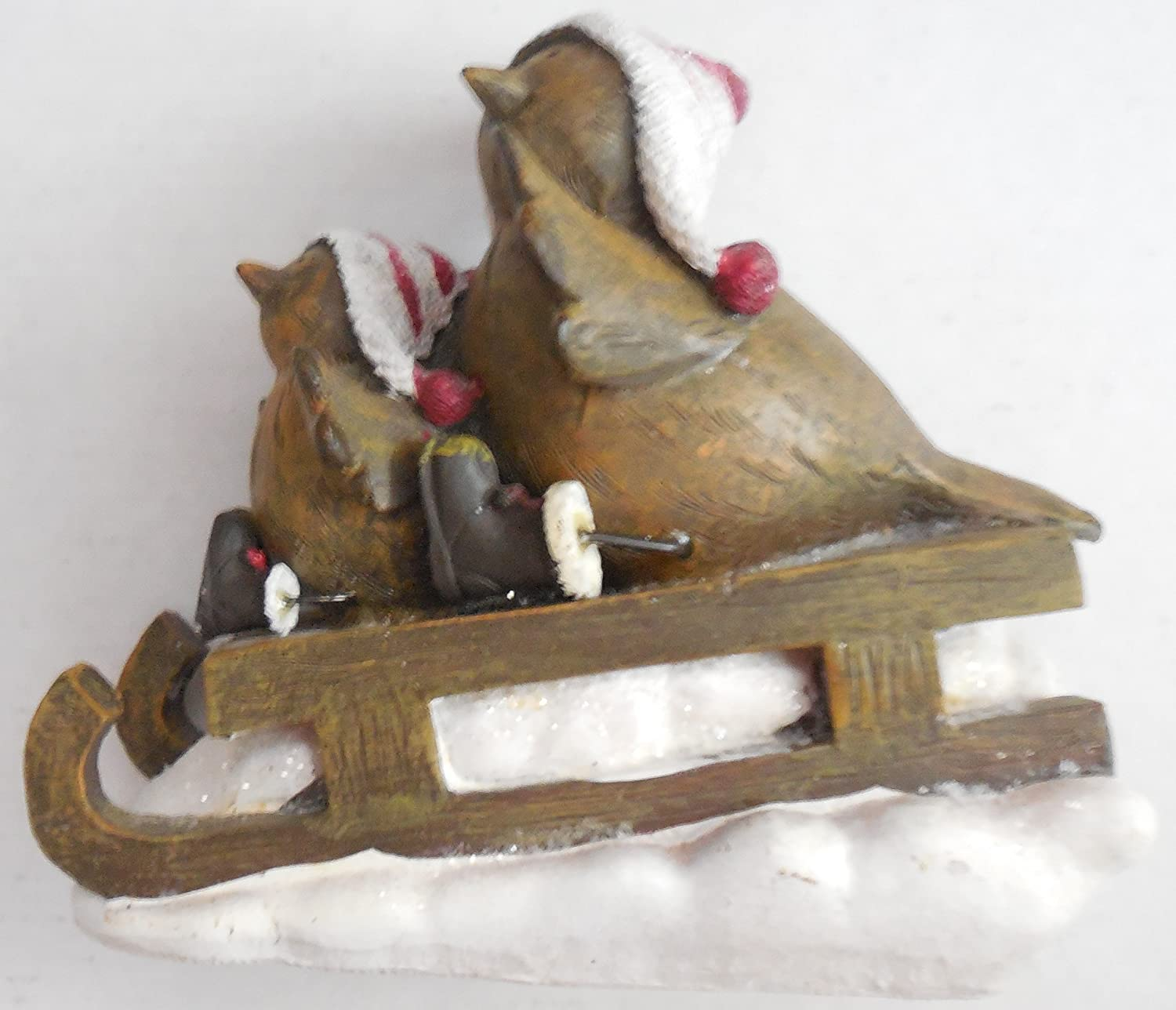 TII Collections Resin Birds On Sleigh Figurine X1325