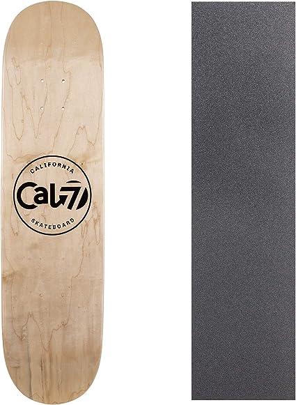 Cal 7 Amoeba Skateboard Deck Grip Tape Graphic Canadian Maple 8.0 8.25 Inch