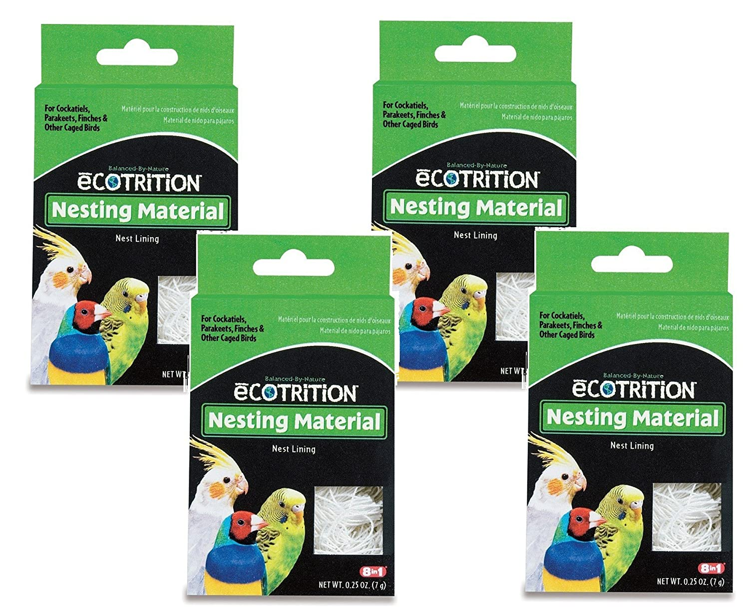 8 in 1 Pet Products Natural Cotton Fiber Bird Nesting Material - 4 Total .25oz each United Pet Group