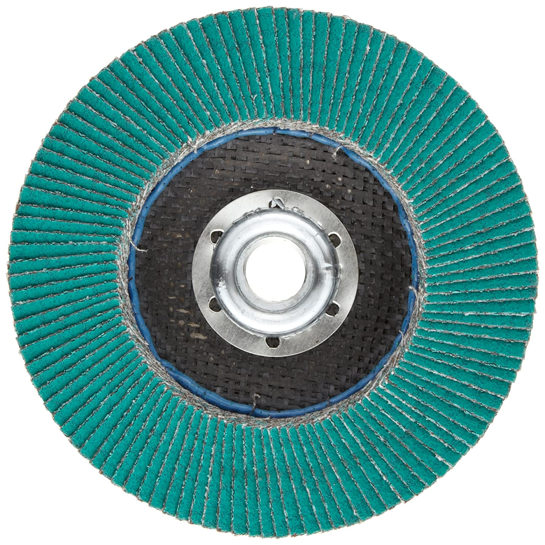 Pack of 1 40 Grit 4-1//2 Diameter Alumina Zirconia Dry//Wet T29 Giant 5//8-11 Thread Size 3M Flap Disc 577F