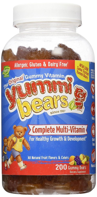 Yummi Bears Multi Vitamin Mineral Gummies – Fruit Flavor – 200 ct