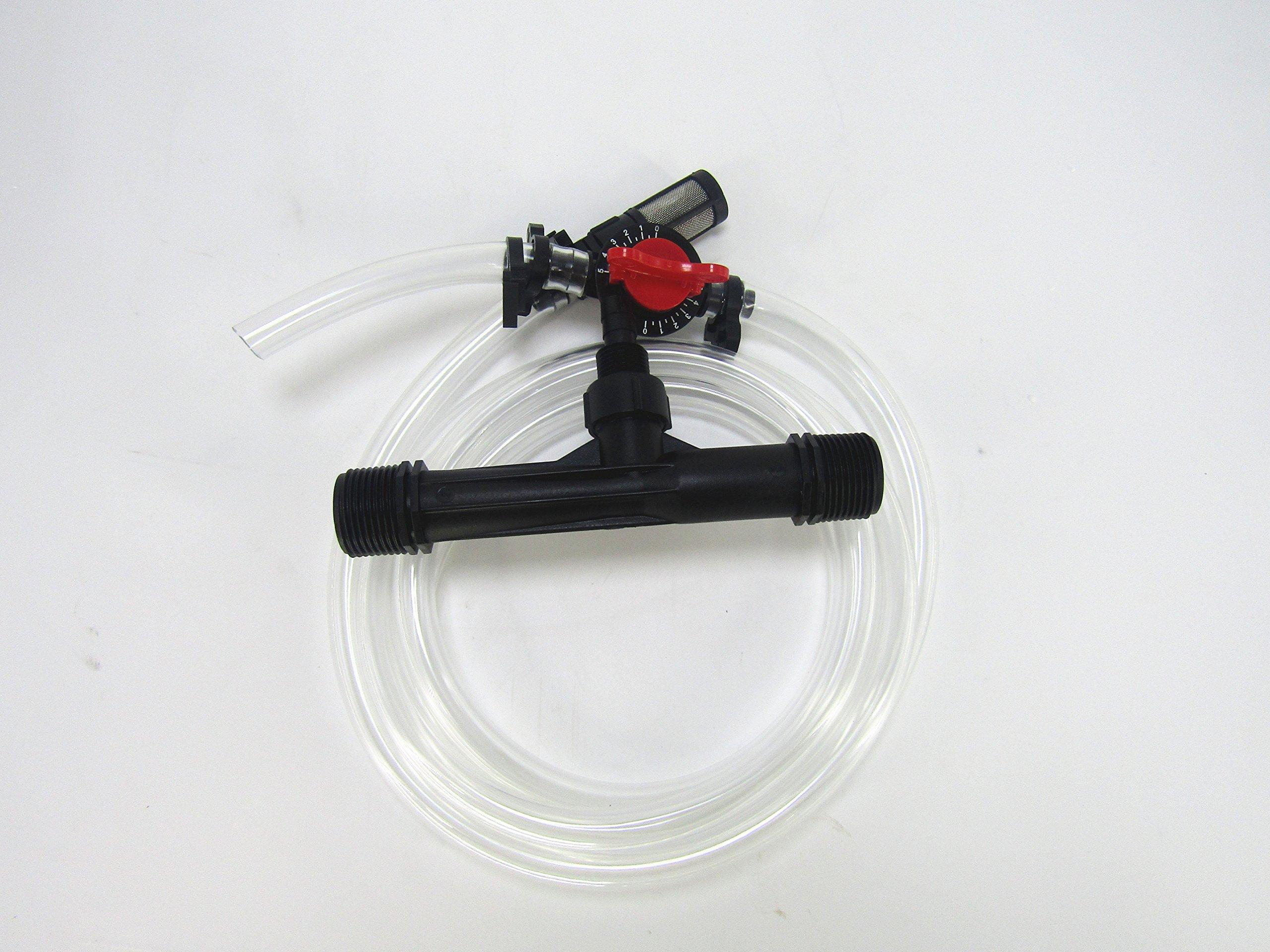 1'' Garden Irrigation Device Venturi Fertilizer Injector Switch Water Tube Kit
