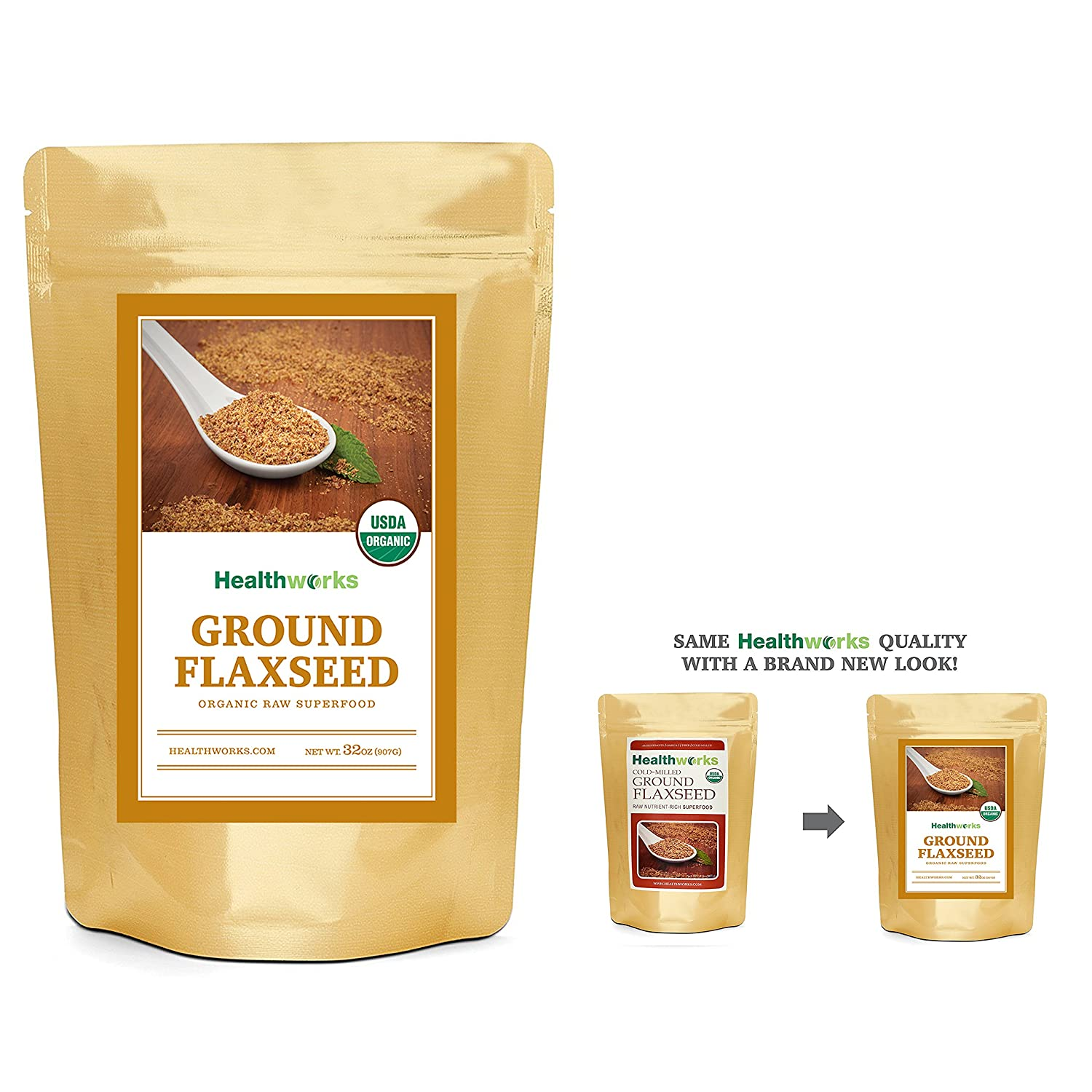 Bulk flax seed for crafts - Healthworks Flaxseed Cold Milled Ground Raw Organic