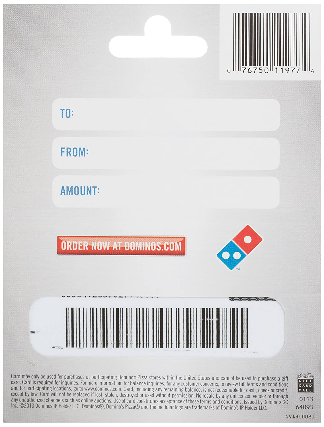 Amazon dominos pizza gift card 20 gift cards 1betcityfo Gallery