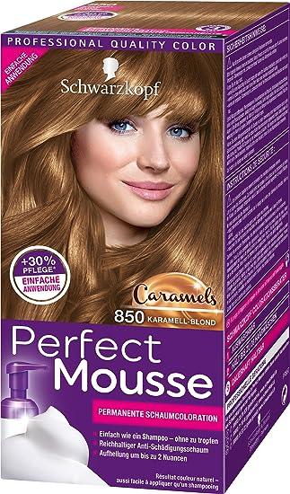 Perfect Mousse Permanente Schaumcoloration 850 Karamell Blond