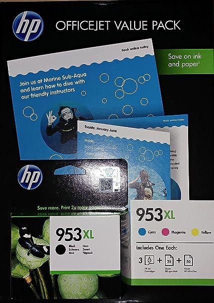 HP 953XL Set 4 Cartuchos originales: cada uno x negro, cian ...