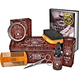 (Beard Care Kit - Sandalwood) - Beard Care Kit for Men- Sandalwood- Ultimate Beard Grooming Kit includes 100% Boar Beard…