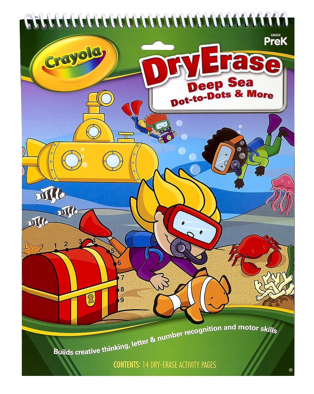 amazon com crayola dry erase activity tablet deep sea dot to dots