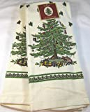 Set of 2 Spode Christmas Tree Kitchen Towels by