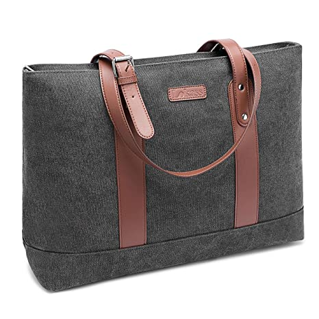 4e1a4d72e0c DTBG Laptop Tote Bag 15.6Inches Laptop Bag Nylon Shoulder Bag Women  Briefcase Lightweight Handbag with Padded Compartment for Work Business  Travel ...