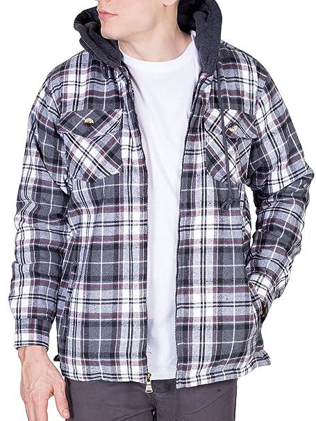 Amazon.com: Walnut Creek chaqueta de franela con cierre y ...