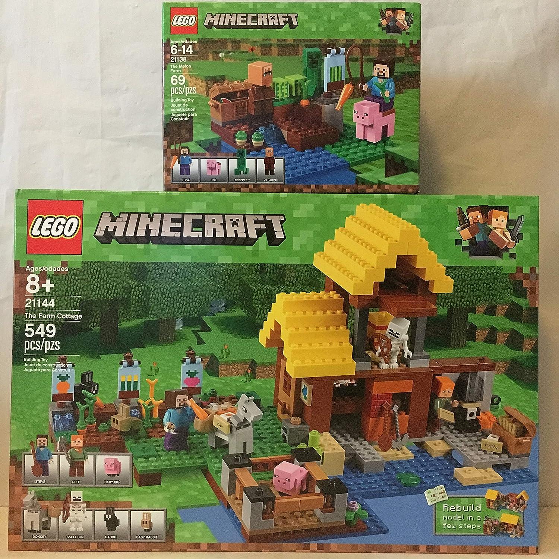 LEGO Minecraft The Farm Cottage & LEGO Minecraft The Melon Farm
