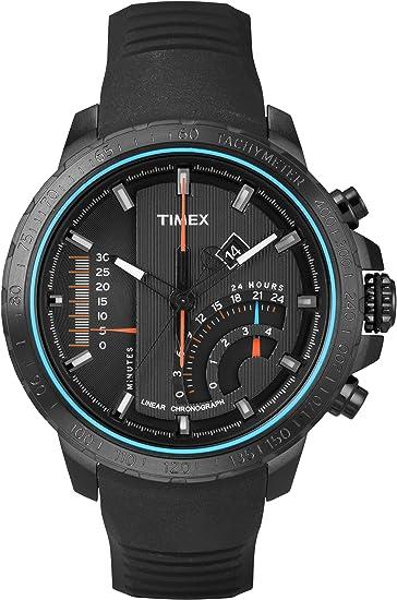 Timex T2P272D7 - Reloj de cuarzo para hombres, color negro: Amazon.es: Relojes