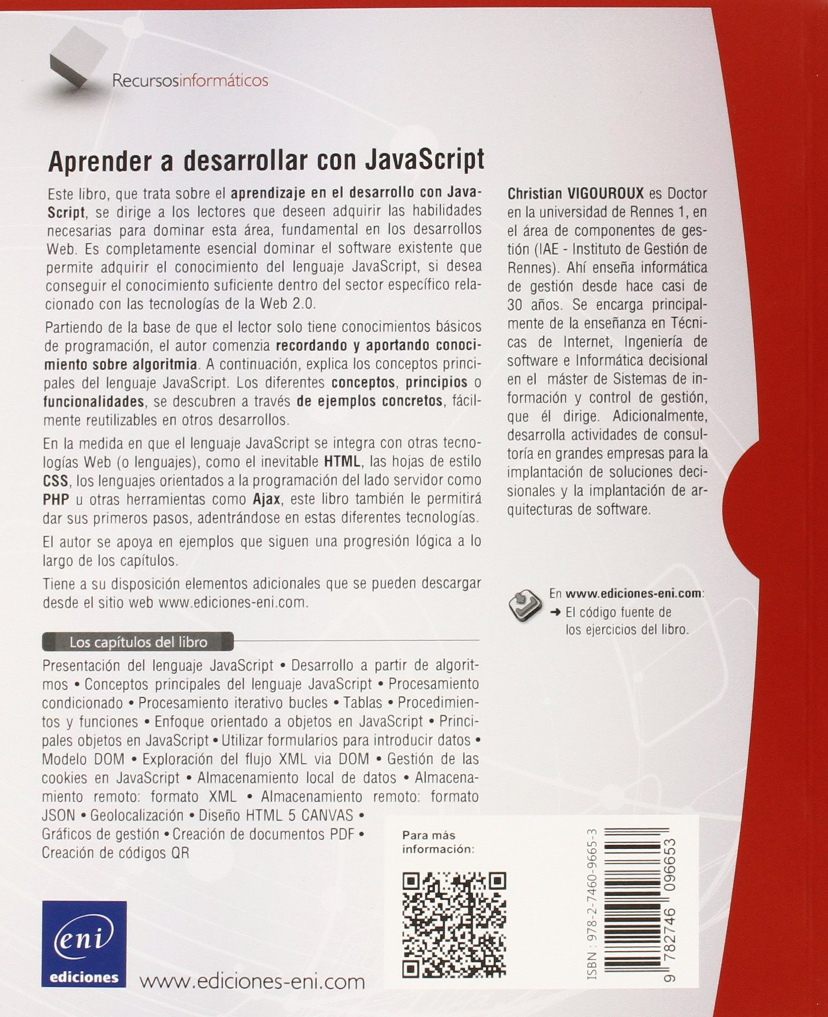 Aprender A Desarrollar Con JavaScript: Amazon.es: Christian Vigouroux: Libros
