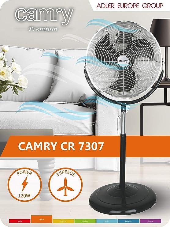 Camry CR 7307 Negro, Acero inoxidable - Ventilador (Negro, Acero ...