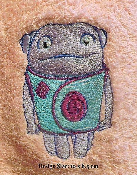 Oh la diseño de Alien de casa (353) – bordado personalizado toalla de baño