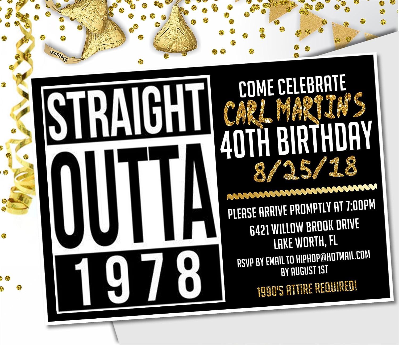 Hip Hop Birthday Party Invitations, 1990's Hip Hop Birthday Party Invitations