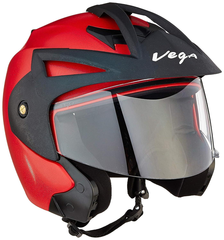 Red Color Vega Crux Open Face Helmet in India