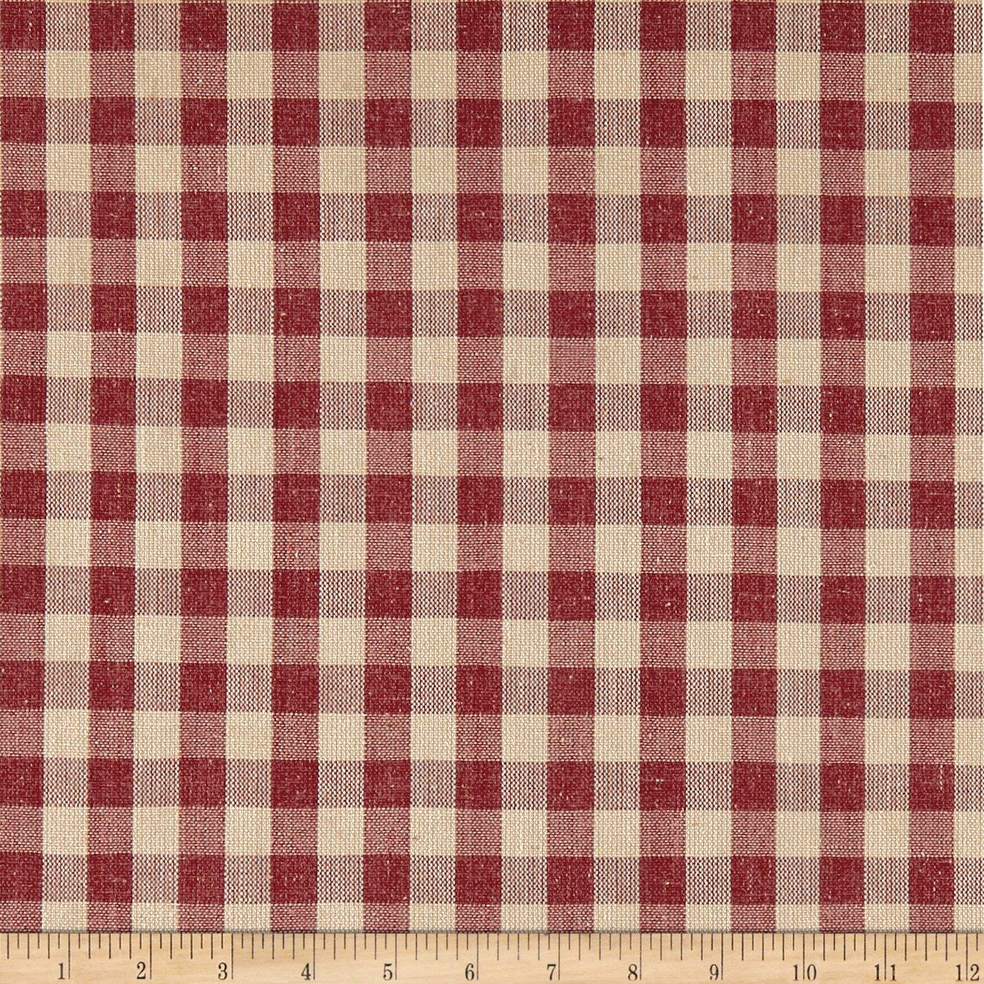 Richloom Fabrics Spruce Canvas, Tomato