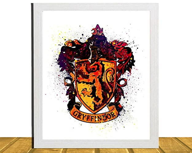 Harry Potter Inspired Wall Art, Watercolor Art, Gryffindor Crest, Kids Room  Decor, Harry Potter Poster, Baby Shower Gift, Nursery Art, Unframed, ...