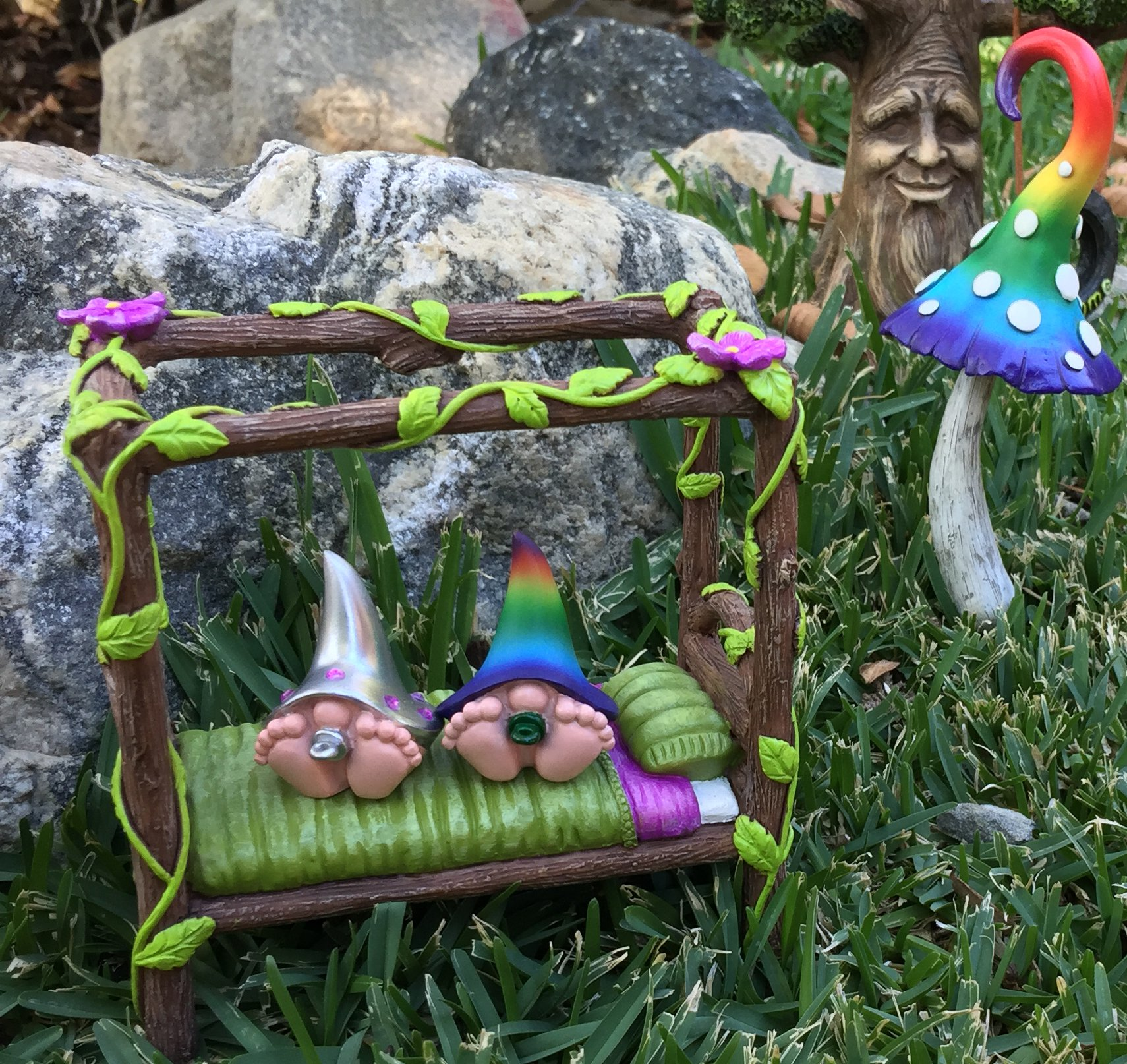 GlitZGlam Miniature Baby Gnomes 4 Pack Collection – The Baby Gnomes for The Fairy Garden That Garden Fairies Love by GlitZGlam (Image #6)