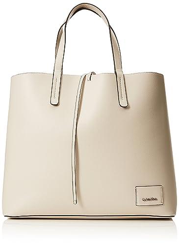 bf225c14c8be Amazon.com: Calvin Klein Ck Reversible Shopper, Women's Tote, White  (Cement/Light Gold), 14x35x42 cm (B x H T): Shoes