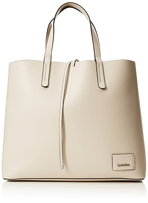 818bbb2259 Calvin Klein Ck Reversible Shopper - Borse Tote Donna, Bianco (Cement/Light  Gold