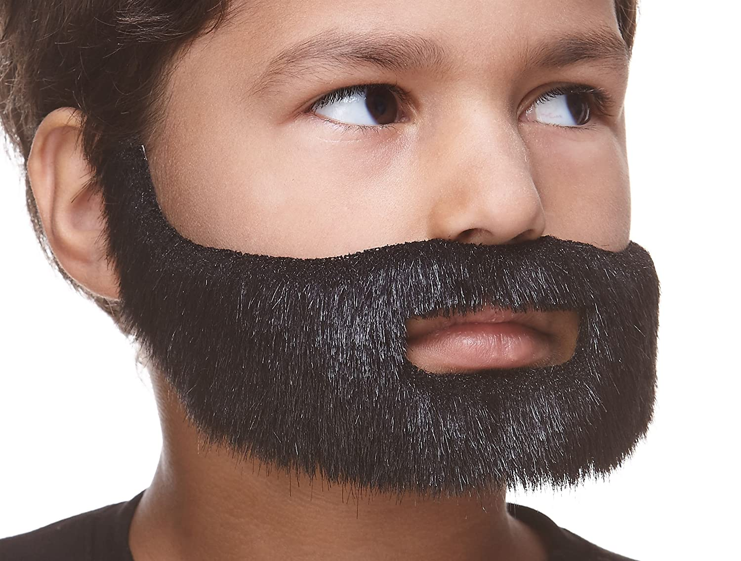 Mustaches Fake Beard Small Novelty Self Adhesive Short Boxed False Facial Hair Costume Accessory for Kids