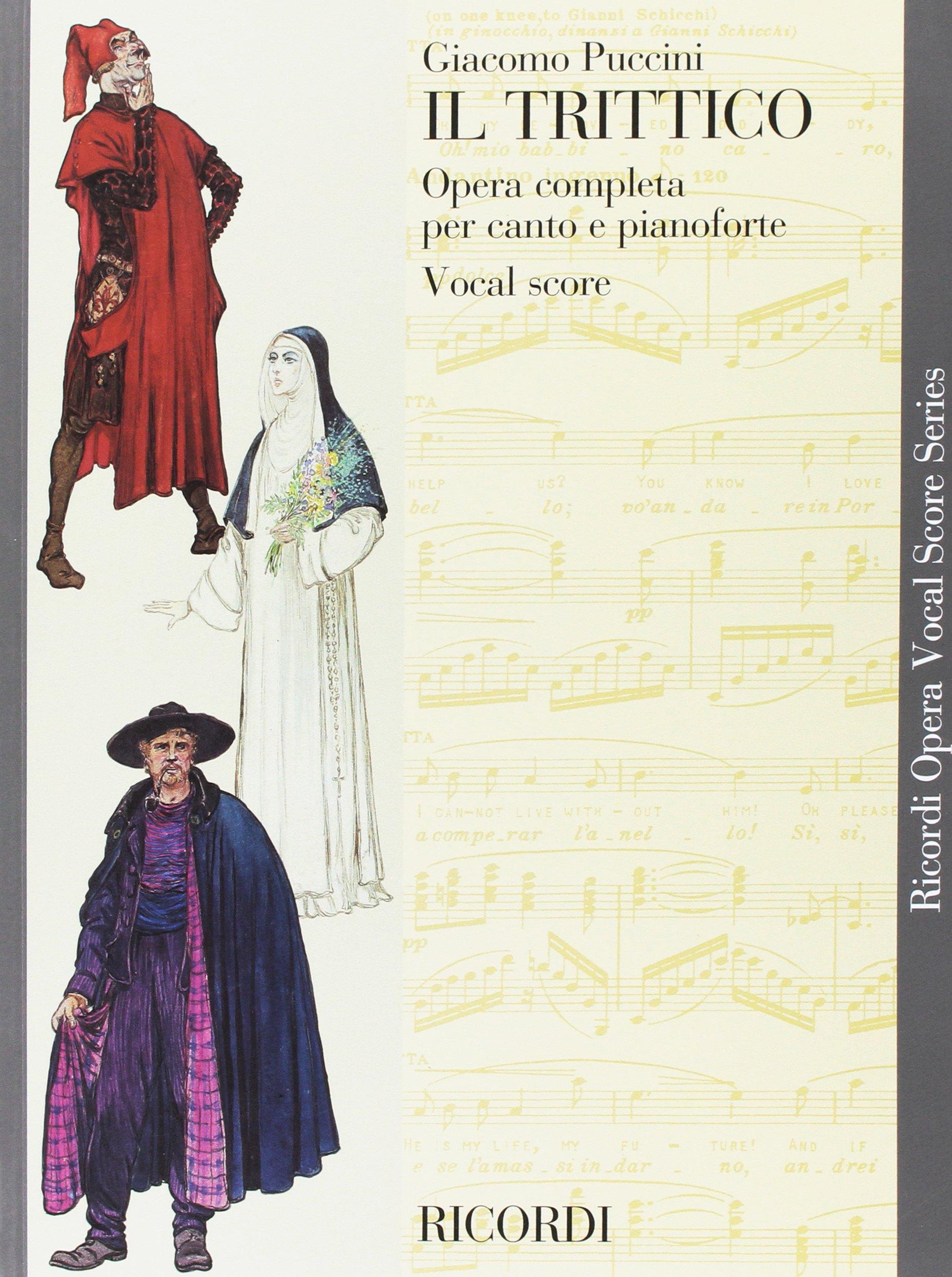 Puccini   Il Trittico  Opera Vocal Score Series