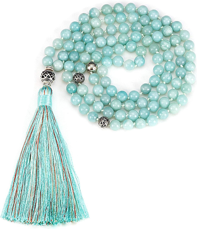 Cherry Quartz /& Amazonite Necklace. Handmade Sterling Silver
