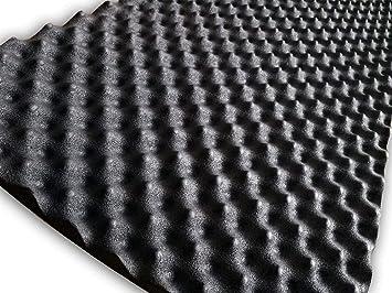 soomj – Espuma de absorción acústica insonorizadora para estudio de sonido 50 x 80 cm, 0,4 m²
