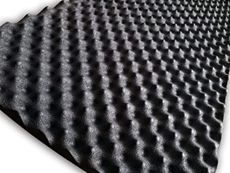 soomj – Espuma de absorción acústica insonorizadora para estudio de sonido 50 x 80 cm,