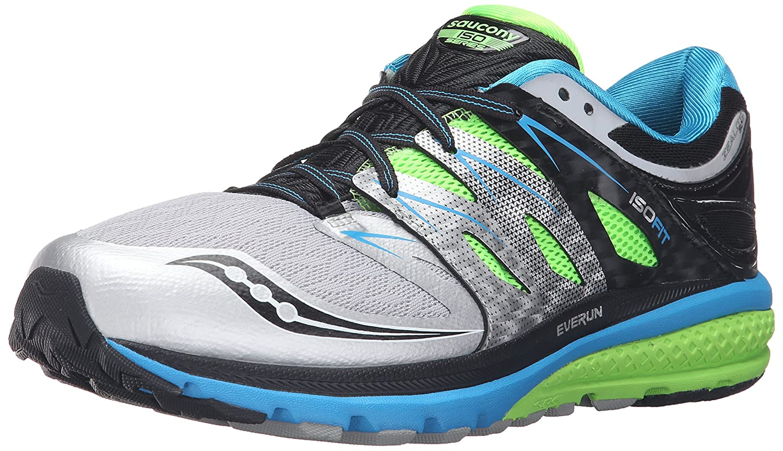 Saucony Zealot ISO 2, Zapatillas de Correr para Hombre 44 EU Multicolor (Blue/Slime/Silver)