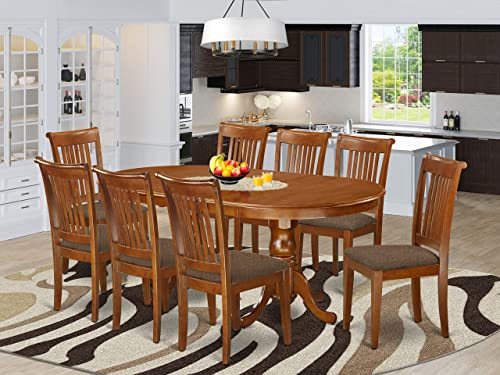 9 PC Dining room set-Dining Table plus 8 Dining Chair