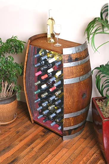Superior 32 Bottle Wine Barrel Cabinet By Wine Barrel Creations