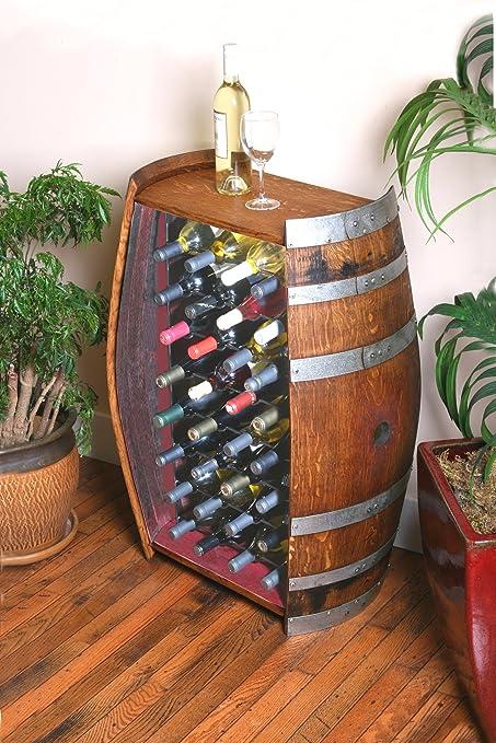 32 Bottle Wine Barrel Cabinet By Wine Barrel Creations