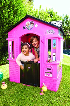 Indoor and Outdoor Cottage Playhouse Toy House with Glitter