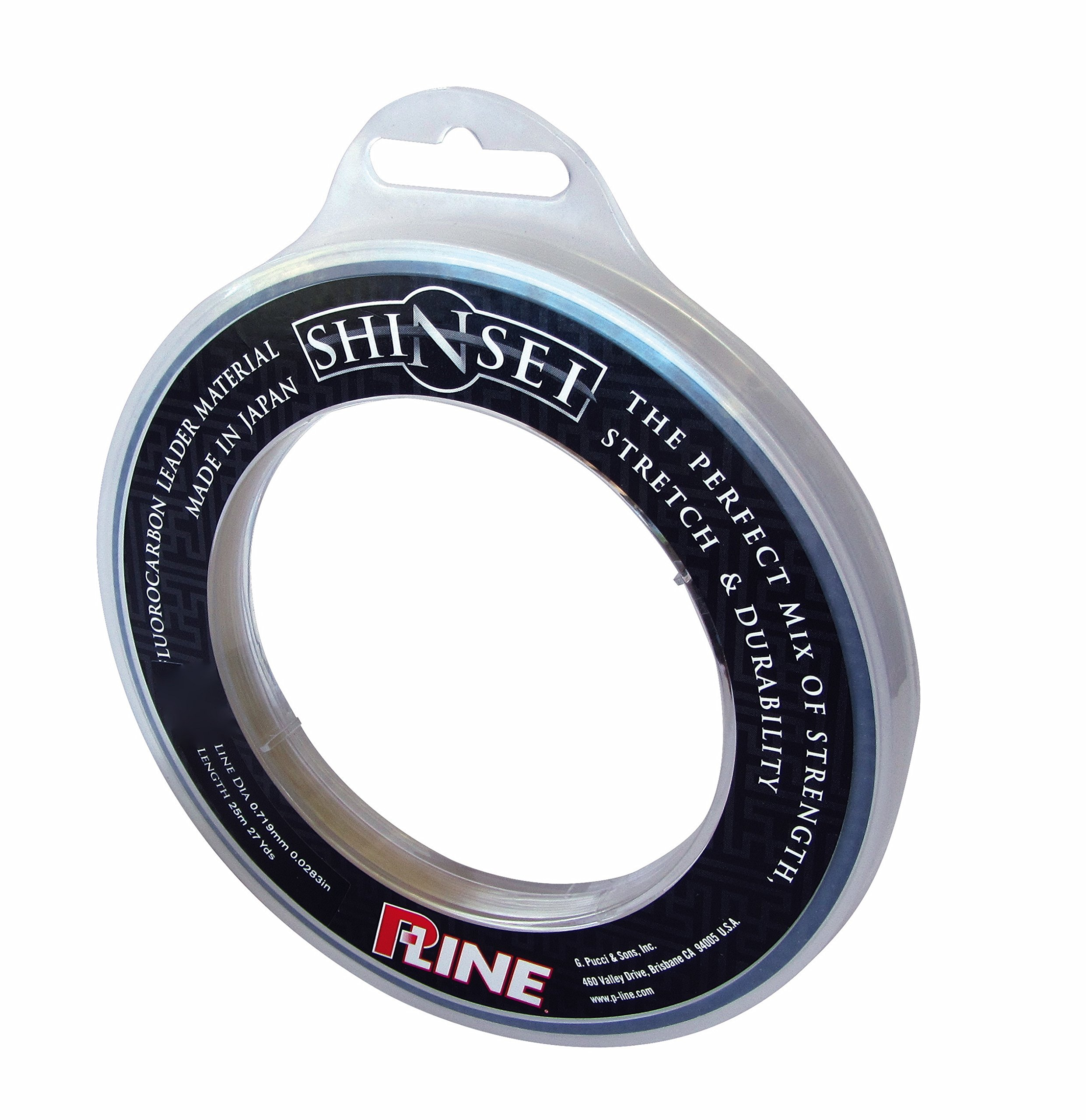 P-Line S25FC-200 Shinsei 100% Pure Fluorocarbon Leader Material, Clear by P-Line