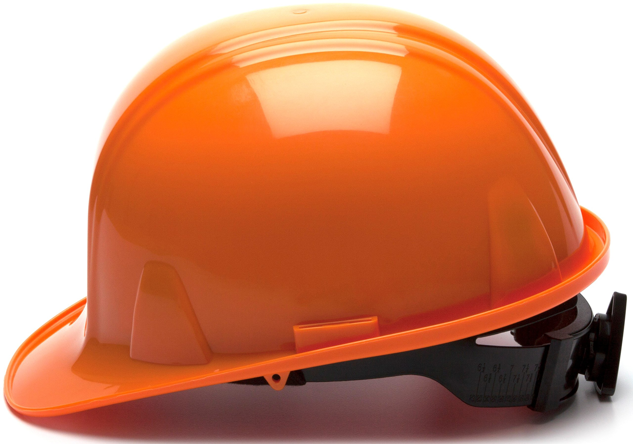 Pyramex Standard Shell Snap Lock Suspension Hard Hat, 4 Point Snap Lock Suspension, Orange by Pyramex Safety (Image #3)
