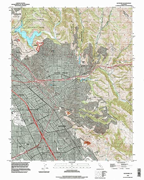 Amazoncom Hayward CA topo map 124000 scale 75 X 75 Minute