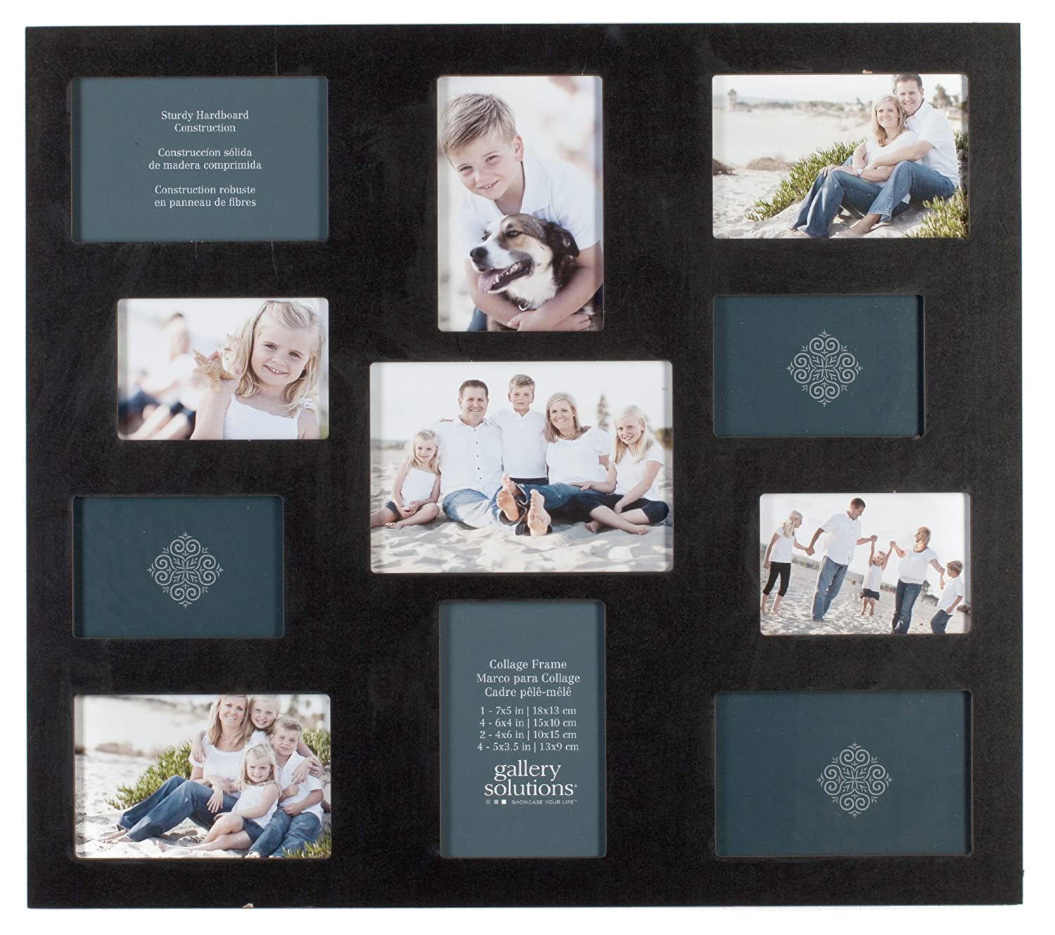 Gallery Solutions 10FW149 Black 21-Opening Collage Frame: Amazon.ca ...