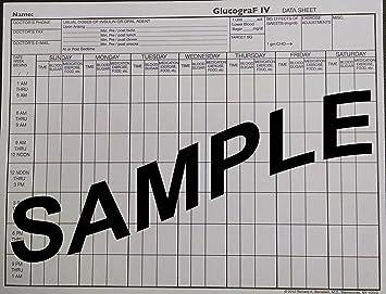 Amazon.com: glucograf IV Diabetes Record Fuente de formas ...