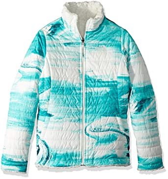 90b84df74c32 The North Face Kids Girl s Reversible Mossbud Swirl Jacket (Little Kids Big  Kids)