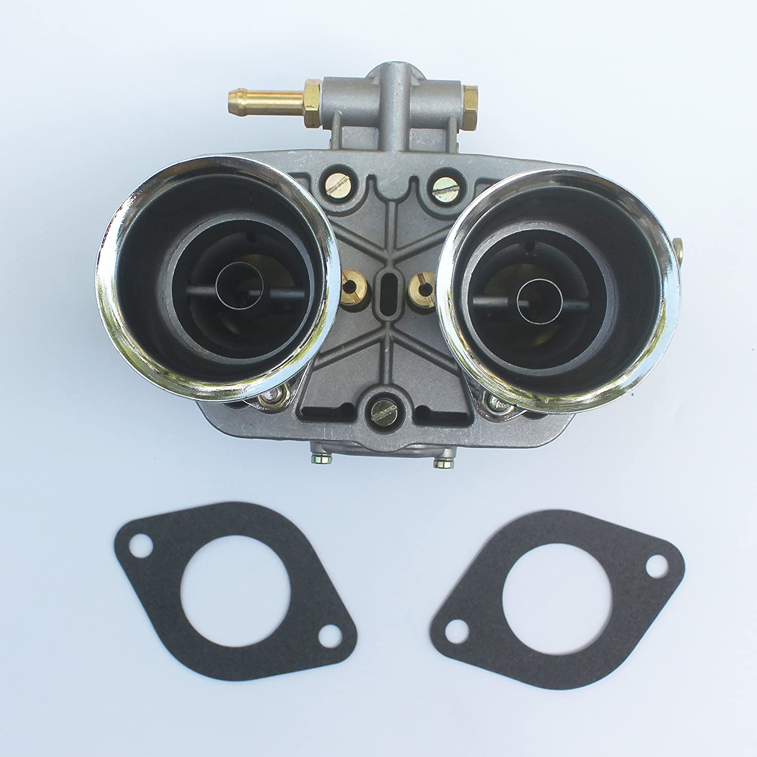 KIPA Carburetor For Weber 48 IDA IDF 48mm With Air Horns OEM # 19030.015 19030018 19030.018 19030015 19030021 used on Porsche VW Jaguar Ford 351 Small Block Chevys American V8 engines with Gaskets