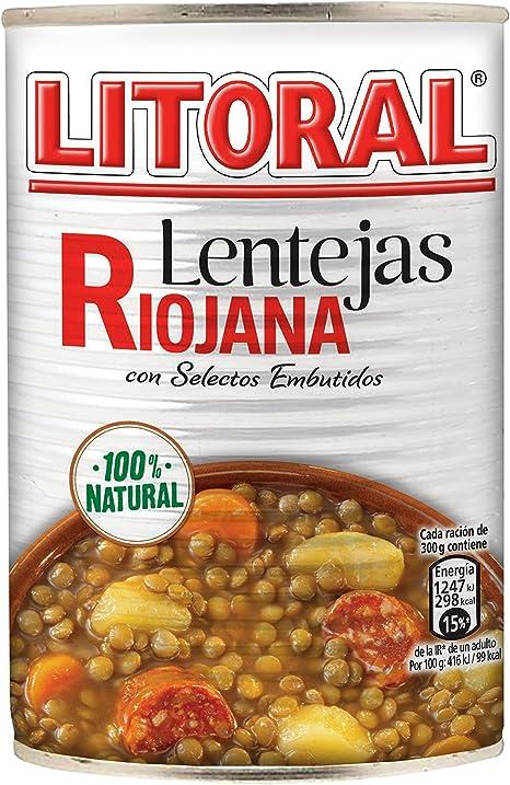 LITORAL Lentejas Riojana Plato Preparado de Lentejas Riojana ...